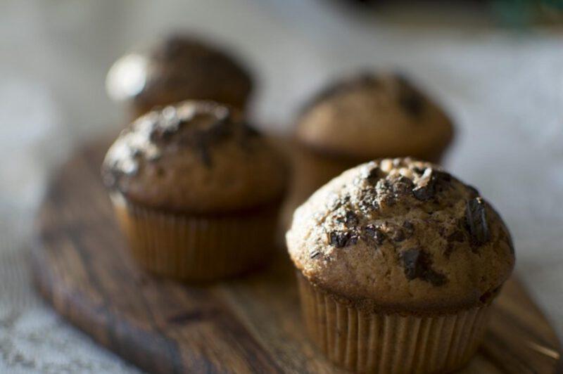 Muffiny czekoladowo jagodowe